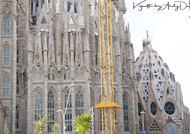 One of the newer towers of the Nativity Facade under construction! The Sagrada Familia is now slated to be completed by 2026!