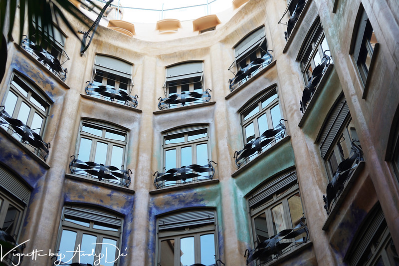 The imposing interior of the LA PEDRERA by ANTONI GAUDI, was at one time, the most expensive apartments your money could buy in Barcelona!