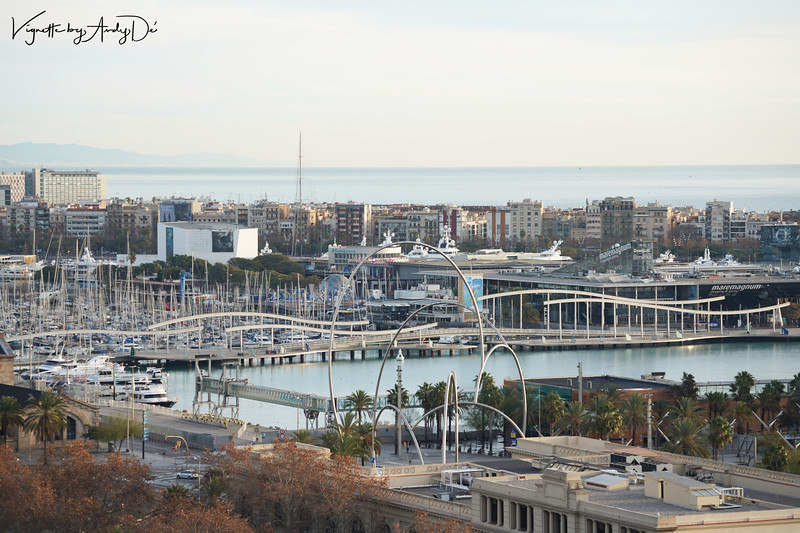 The Port of Barcelona where cruise ships to the rest of Europe depart from, or bring visitors to.