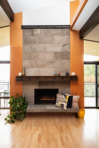 fireplace striaght on
