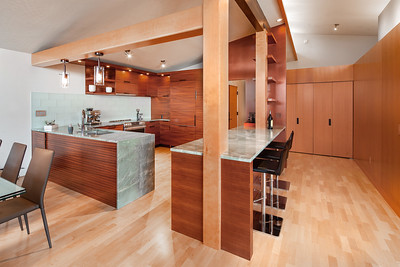 kitchen from fireplace