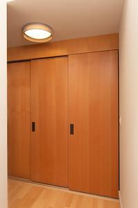 Closet door closed
