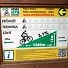 Mtn biking trail sign outside Sopron