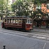 old streetcar (used for historical rides)