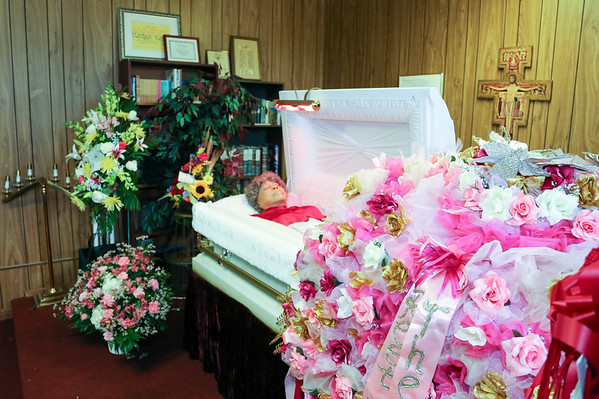 Mai Brown Funeral Service  (Private Images)- Viewing of the Body & Interment