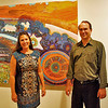 Museum director, Martha Kjeseth Johnson and art preparator, John Spanich