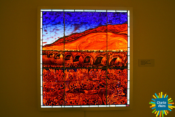Impressive stained glass lightbox