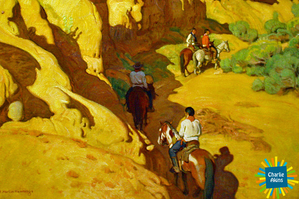 "This oil painting is called ""Through the Arroyo"""