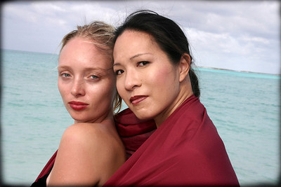Amie and Sann-Sann in Red Scarf