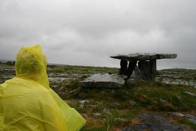 21st  Century Druid by the Ancient Dolmen, the Burren