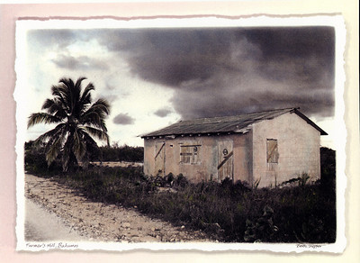 After the Storm, hand-painted photograph