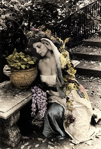 """Isabella & the Pot of Basil: Part Three"" hand-painted photograph"