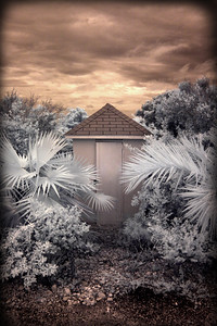 """Little Shack, Exuma, Bahamas"" infrared photograph"