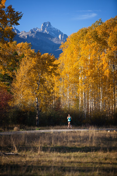 Running in the Tetons, Wyoming. 2015