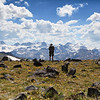 2. Dr. Richard Adams looks onto unexplored country along the Continental Divide in Wyoming's Wind River Range