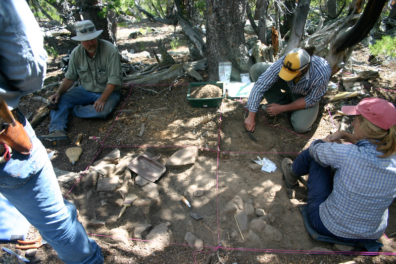 6. Dr. Richard Adams and team excavate a 600 year old house structure at High Rise Village. We found over 20,000 artifacts in this tiny area including arrowheads, bone awls, lances, scrapers, and pottery.
