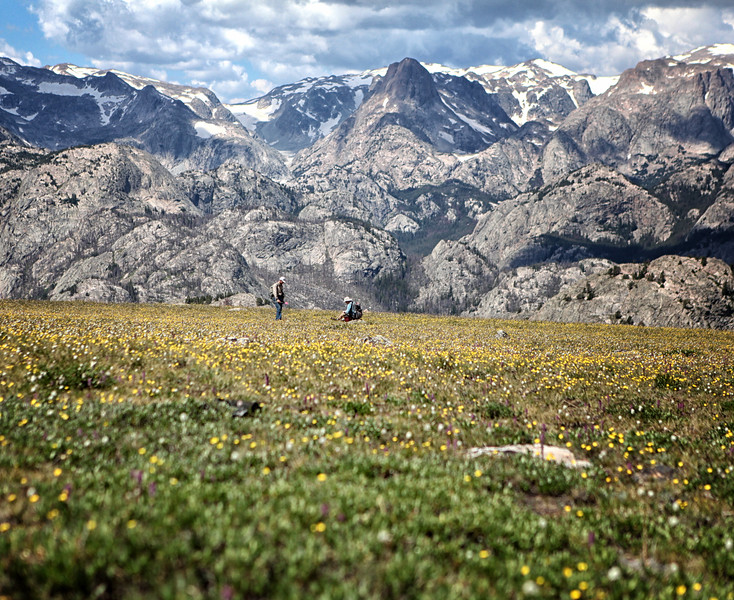 27. Dr. Richard Adams and Tory Taylor record a 6,000 year old site near the Continental Divide in the northern Wind River Range.