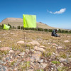 Dr. Richard Adams records a new prehistoric site high in the Wind River Range.