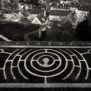 Jardins de l'Evêché, Chartres, Eure-et-Loir, Centre, France