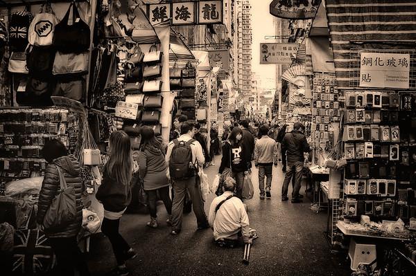 Hong Kong woman street