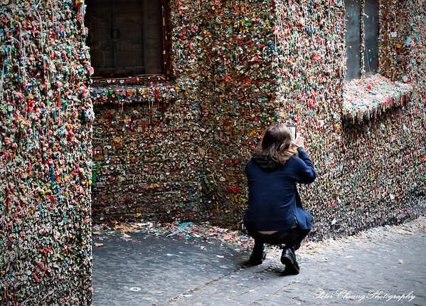 The famous Seattle gum wall