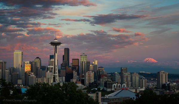 Seattle and Mt. Rainier