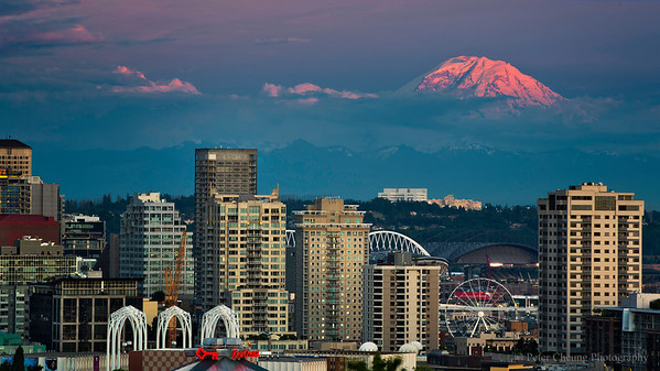 Seattle and Mt. Rainier