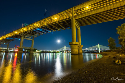 Full Moon Over Tilikum Crossing