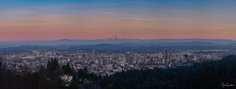 Sunset in Portland