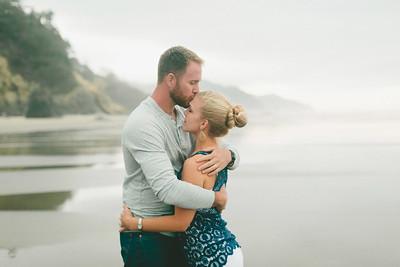 Engagement photographer in Katy, Tx | Hug Point Beach, OR