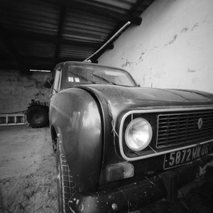 Old Renault in a barn, Bandol, France