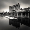 Overlooking the weir, River Avon, Bath, Somerset, UK