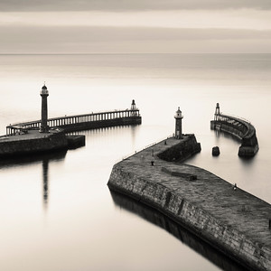 Two Light Hosues, Whitby, North Yorkshire, UK