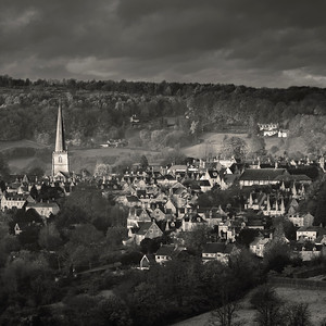 Early morning view of Painswick, Gloucestershire, England