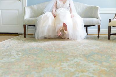 Bride's feet - a flirty image of a  Houston Wedding day