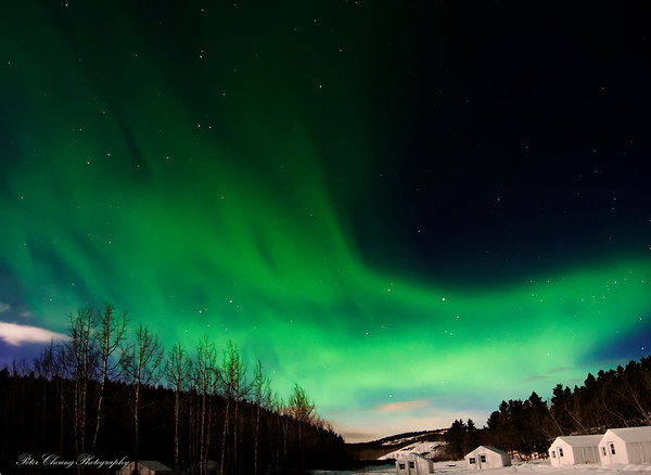 Northern Lights seen in White Horse, Canada