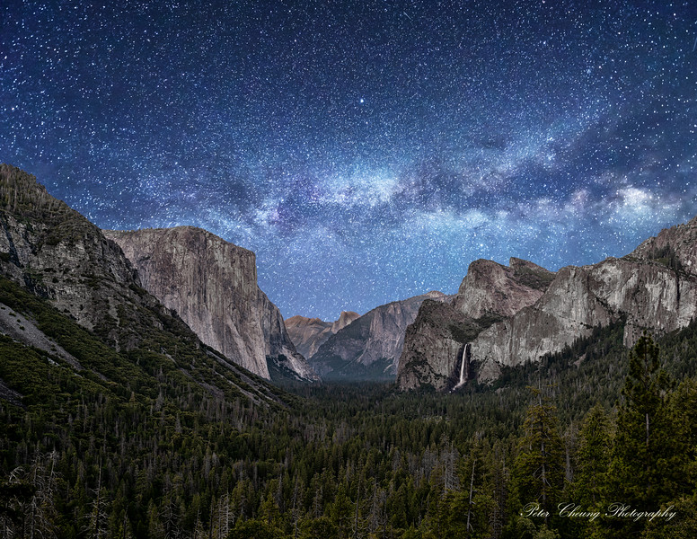 Milky Way over Tunnel View, Yosemite National Park, CA