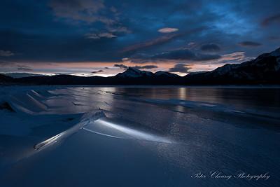 Abraham Lake in Winter, Canadian Rockies
