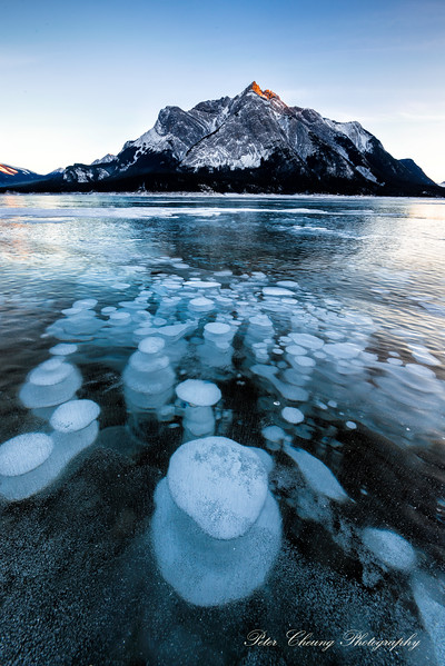 Ice Bubbles at Abraham Lake, Canada