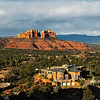 A magnificent mansion with a great view of Cathedral Rock in Sedona! The picture was taken from the Holy Cross Chapel.