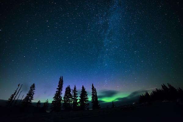 Northern Lights seen from Mt. Rainier