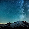 Milky Way over Mt. Rainier