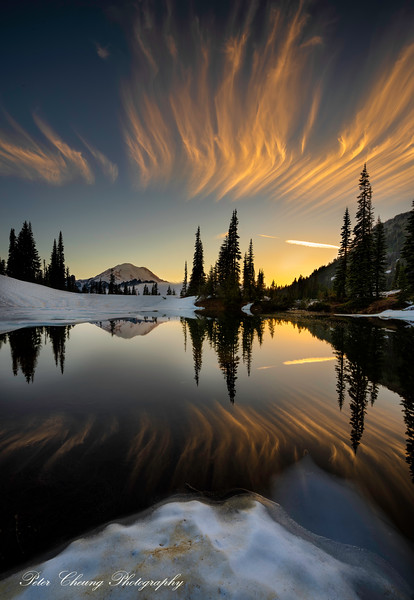 Sunset at Tipsoo Lake