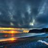 Sunset at Riolta beach