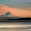 Mt. Rainier sunset. From Dicovery Park.