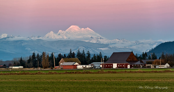 Sunset at Skagit Valley