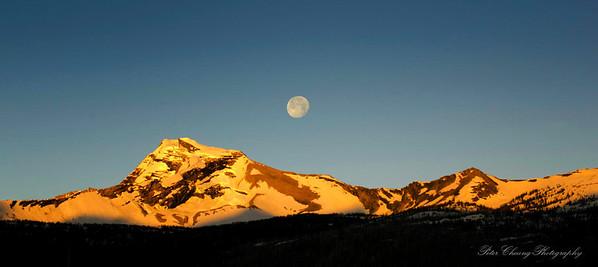 Sunrise at Heaven Peak in Glacier National Park, Montana