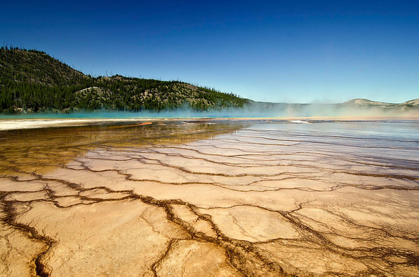 Colorful Midway Geyser in Yellow Stone National Park