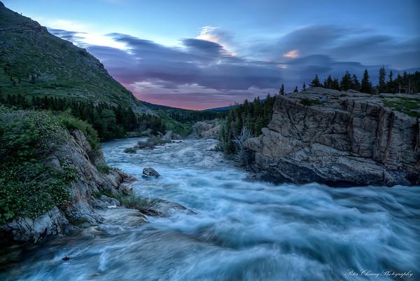 Swiftcurrent river at Glacier National Park