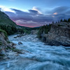 Swiftcurrent river at Glacier National Park
